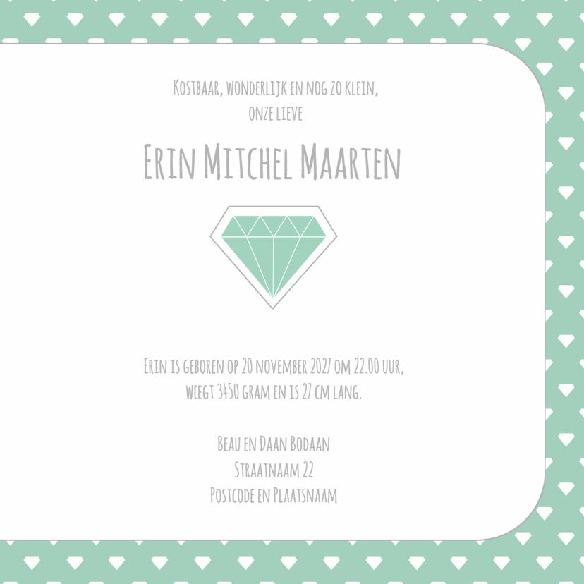 geboortekaart Erin Diamant 3