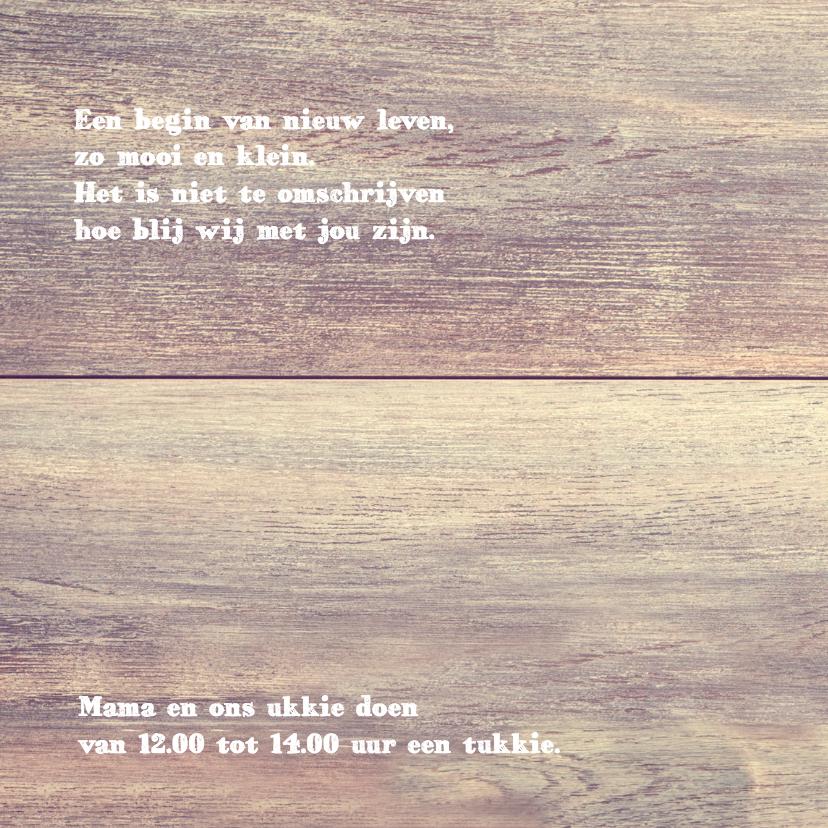 geboortekaart gouden confetti 2