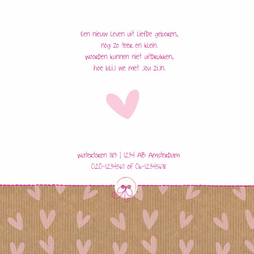 Geboortekaart hartje kraftlook 2
