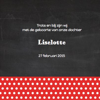 Geboortekaart hartjes+schoolbord 3