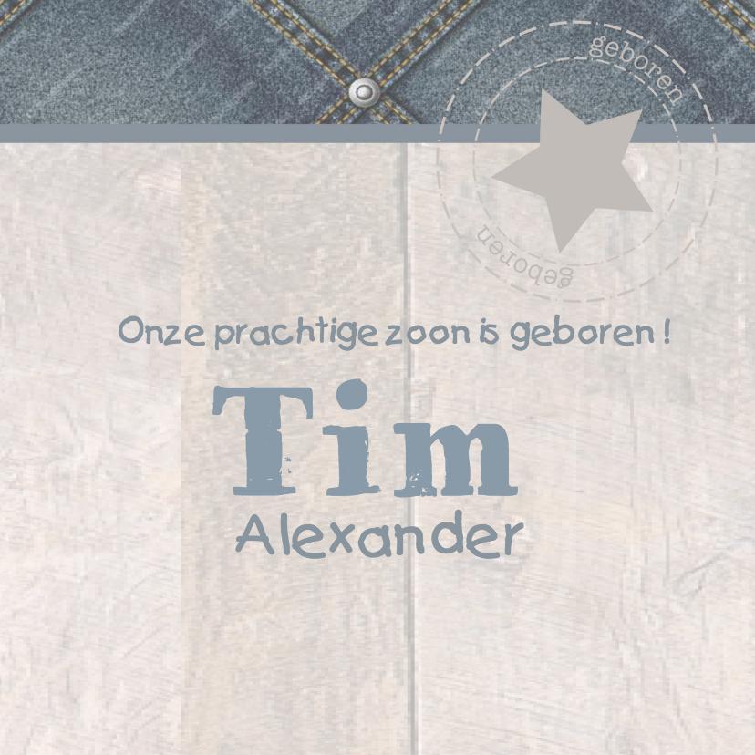Geboortekaart Hip Boom Jeans Tim 3