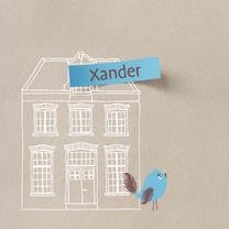 Geboortekaartjes - Geboortekaart Hollands Huis