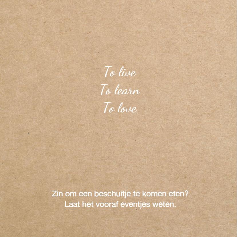 Geboortekaart  Hollandse klompen jongen 2