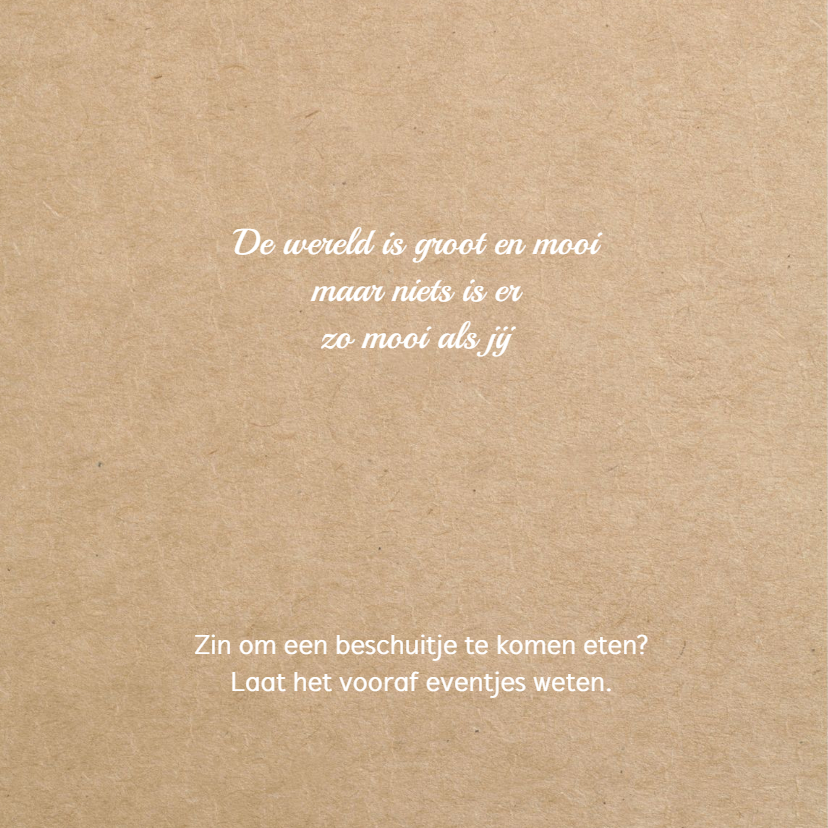 Geboortekaart Hollandse klompen meisje 2