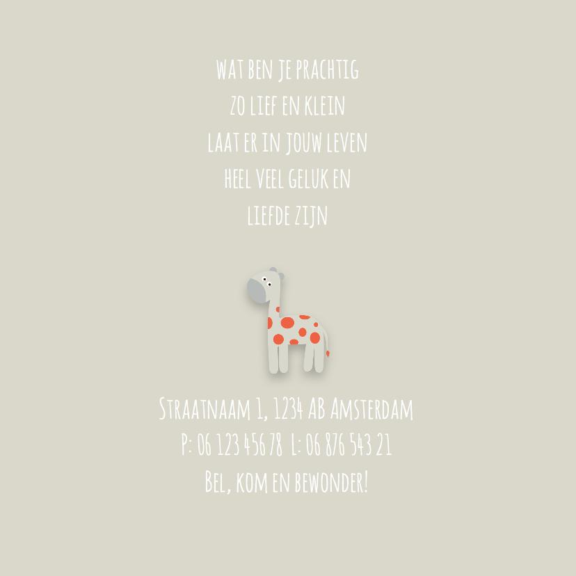 Geboortekaart | J | Giraffe 2
