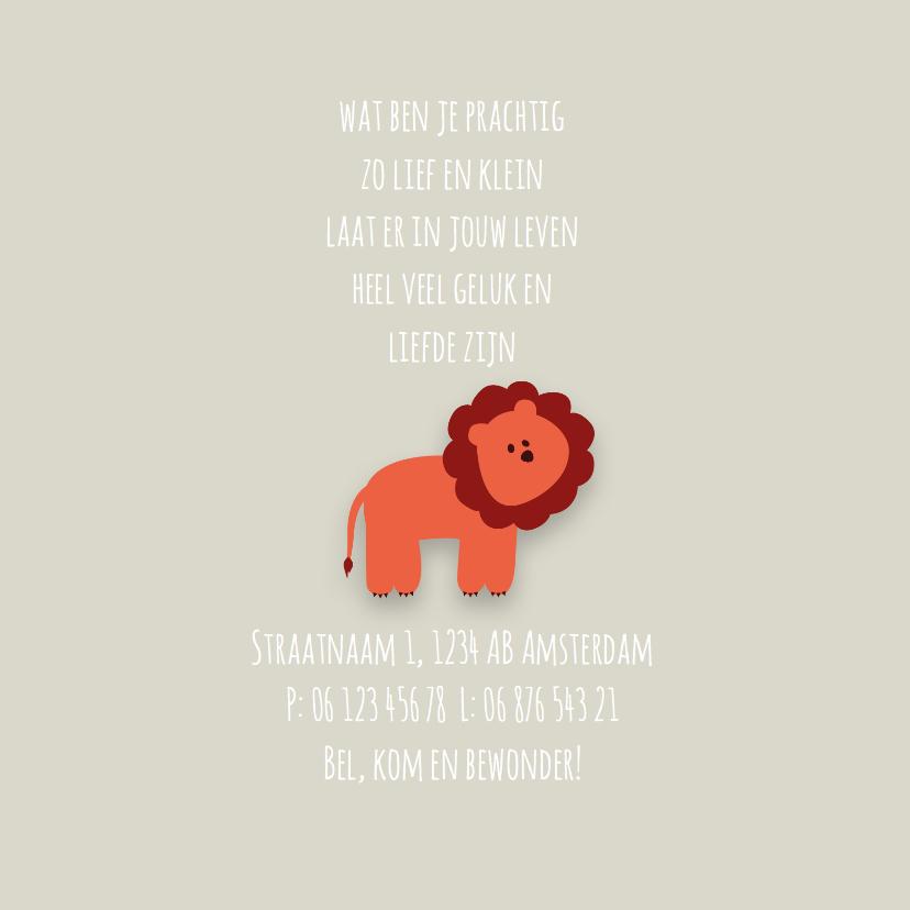 Geboortekaart | J | Leeuw 2