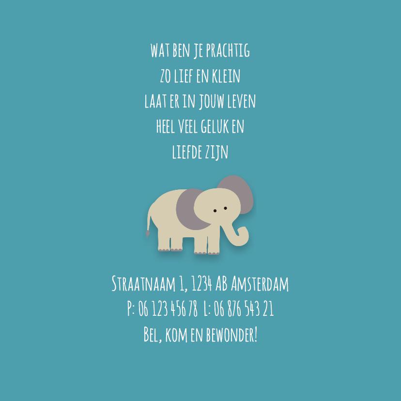 Geboortekaart | J | Olifant 2