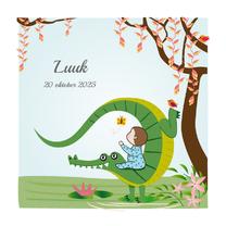Geboortekaartjes - Geboortekaart jongen met krokodil