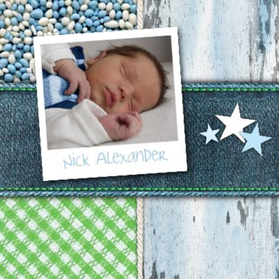 Geboortekaart jongen waslijn 2