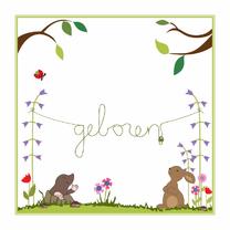Geboortekaartjes - Geboortekaart konijn en molletje