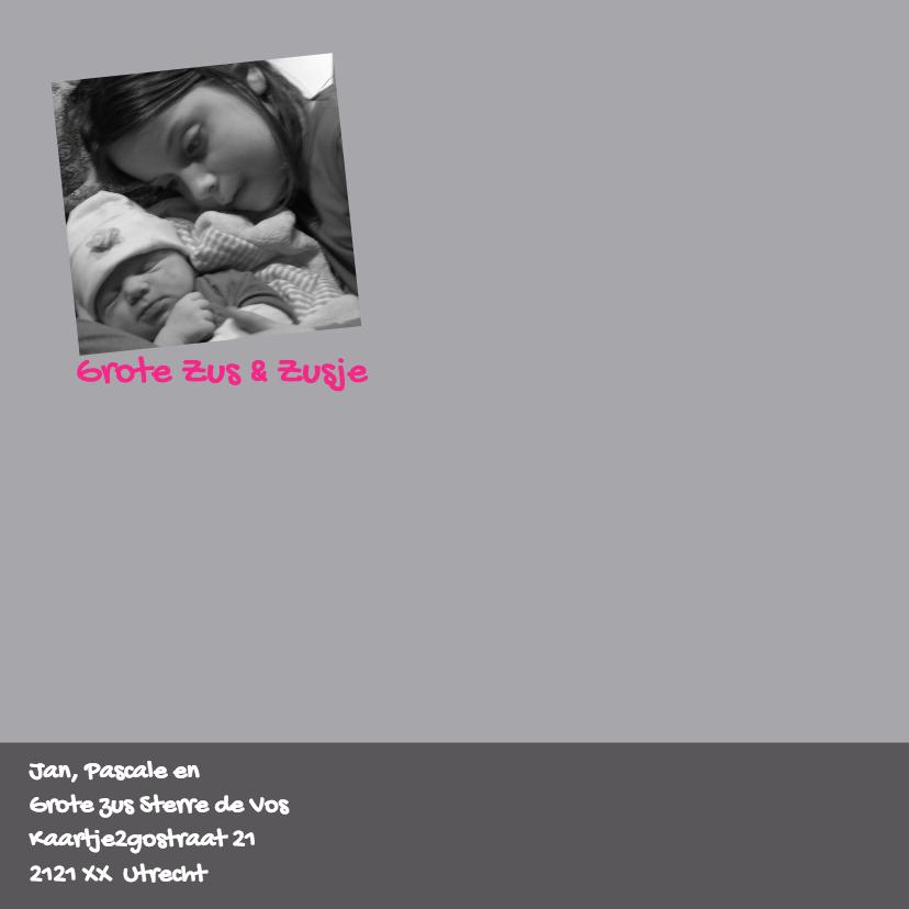 Geboortekaart Konijn Zusje Zus 2