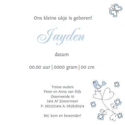 Geboortekaart LB Jayden 3
