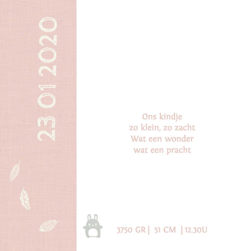 Geboortekaart Ledikant roze - AV 2