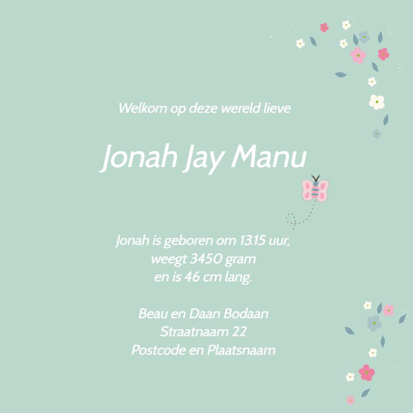 Geboortekaart lentebloesem Jonah 3