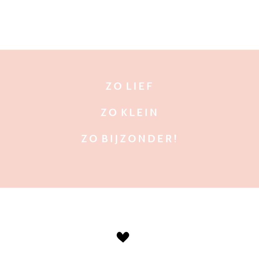 Geboortekaart lightbox roze - BC 2
