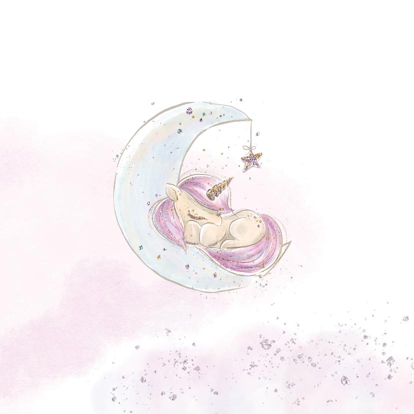 Geboortekaart meisje eenhoorn 2