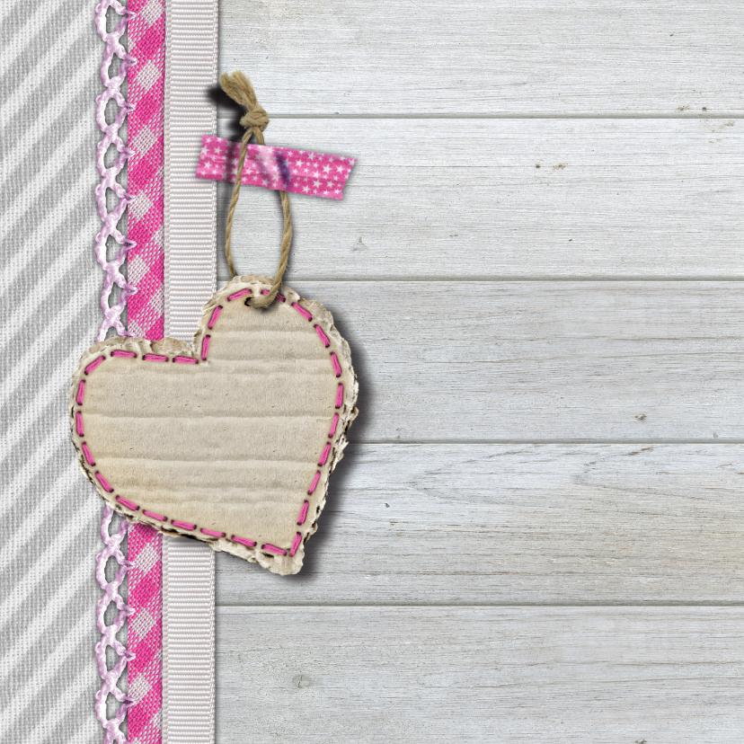 geboortekaart meisje foto hout 2