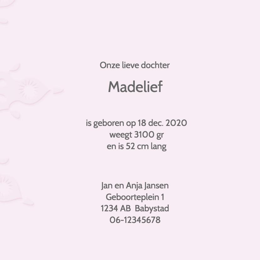 Geboortekaart meisje -ster- 3