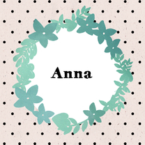 Geboortekaartjes - Geboortekaart met bloemenkrans