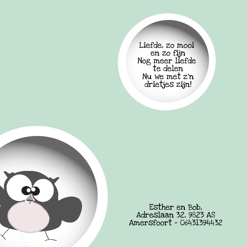 Geboortekaart  unisex foto cirkels 2