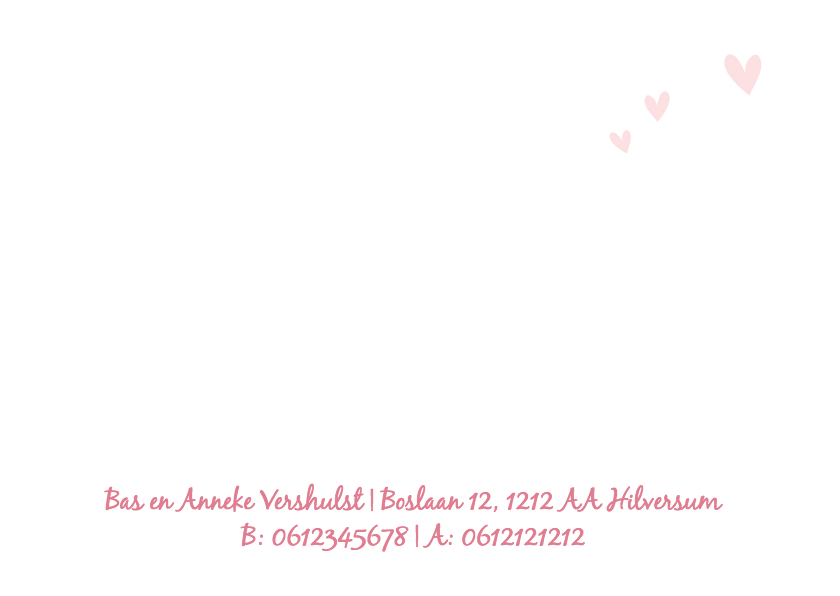 Geboortekaart-olif-verf-roze-PF 2