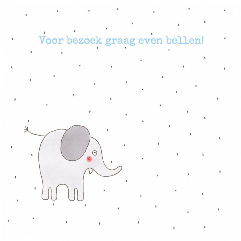 geboortekaart olifant jongen 2