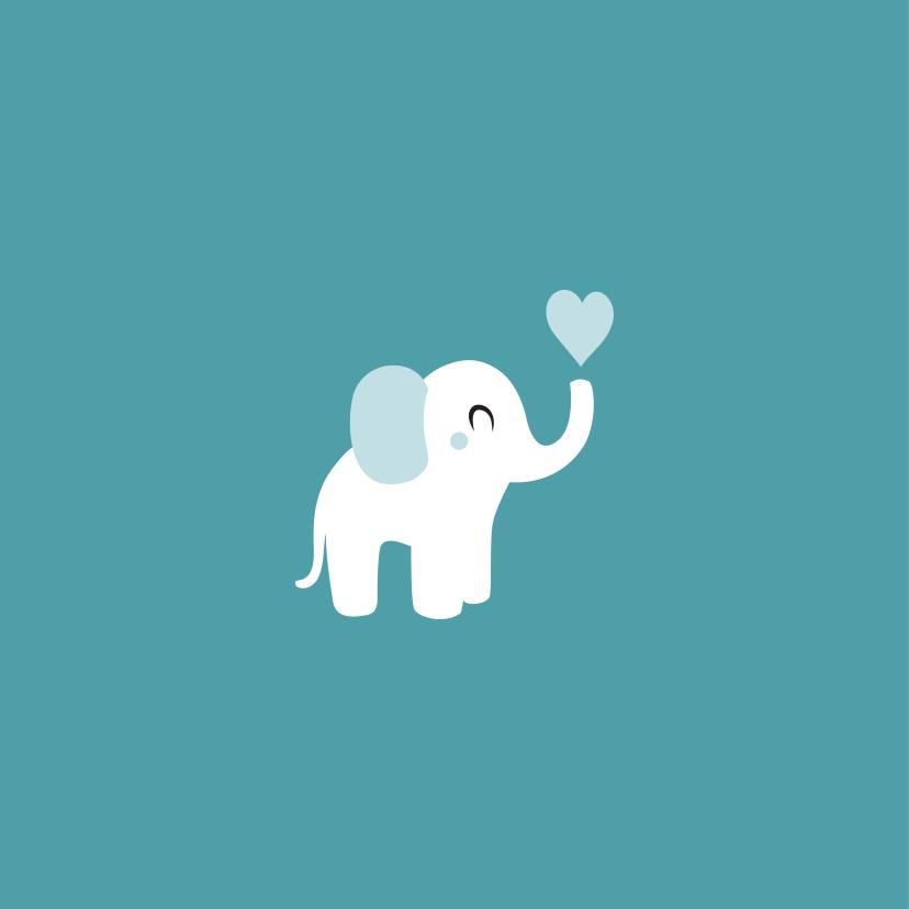 Geboortekaart olifant kraft 2