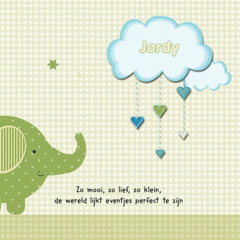 Geboortekaart olifant zoon 2