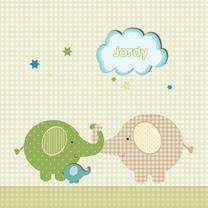 Geboortekaartjes - Geboortekaart olifant zoon
