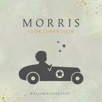 Geboortekaartjes - Geboortekaart raceauto - AV