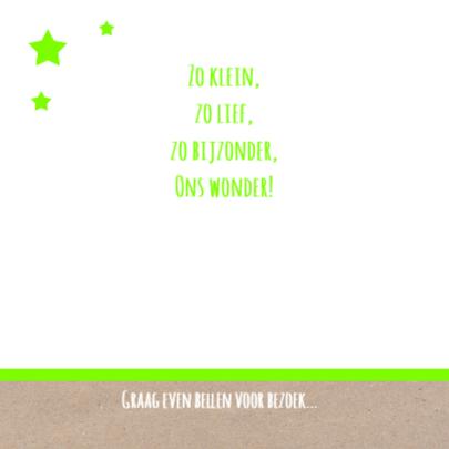 Geboortekaart raket groen 2