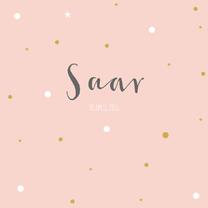 Geboortekaartjes - Geboortekaart roze rozet - BC