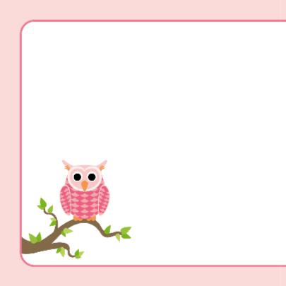 Geboortekaart Roze uiltje met stippen 2
