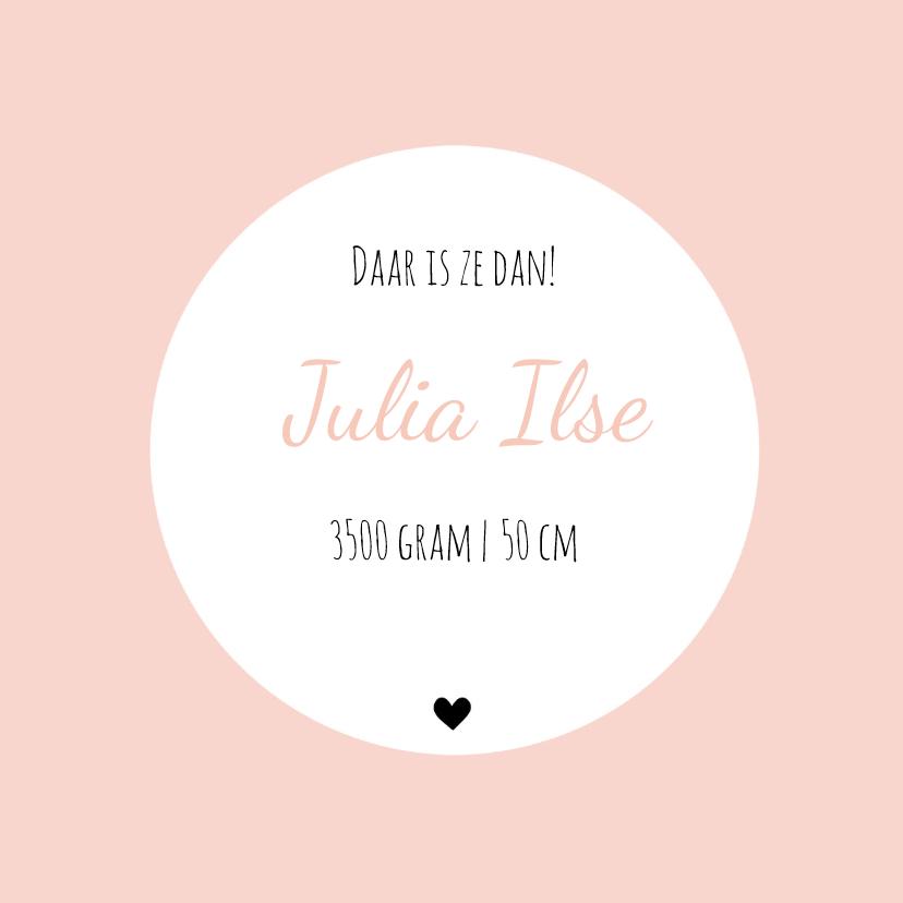 Geboortekaart ruit roze - BC 3