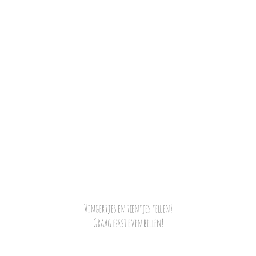 Geboortekaart slinger blauw - BC 2