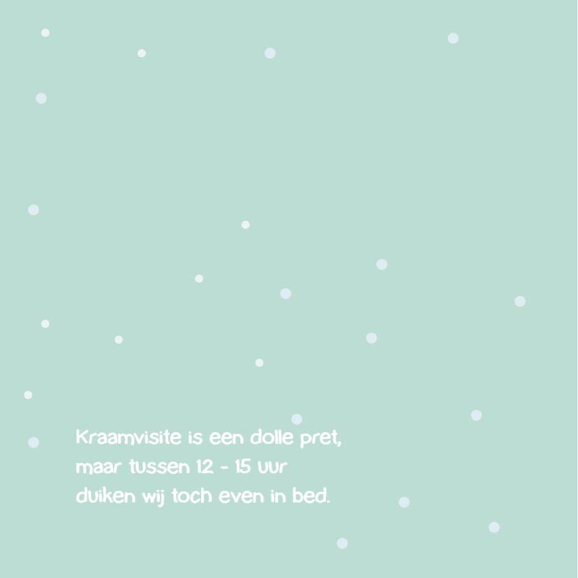 Geboortekaart sneeuwengel jongen 2