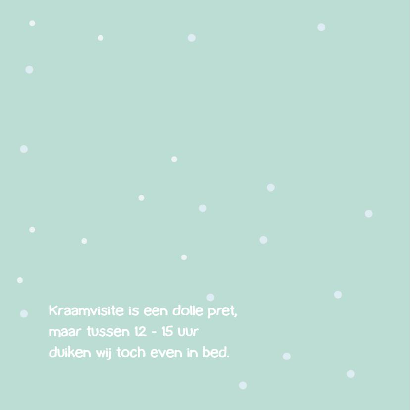 Geboortekaart sneeuwengel meisje 2