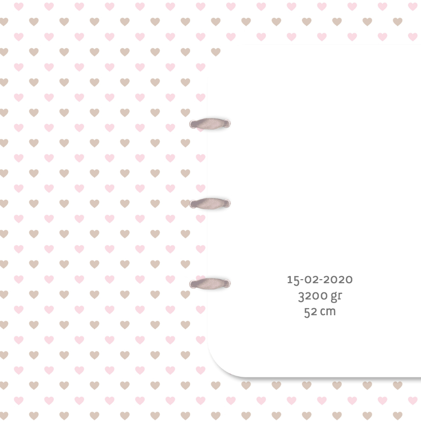 Geboortekaart ster-hart roze 2
