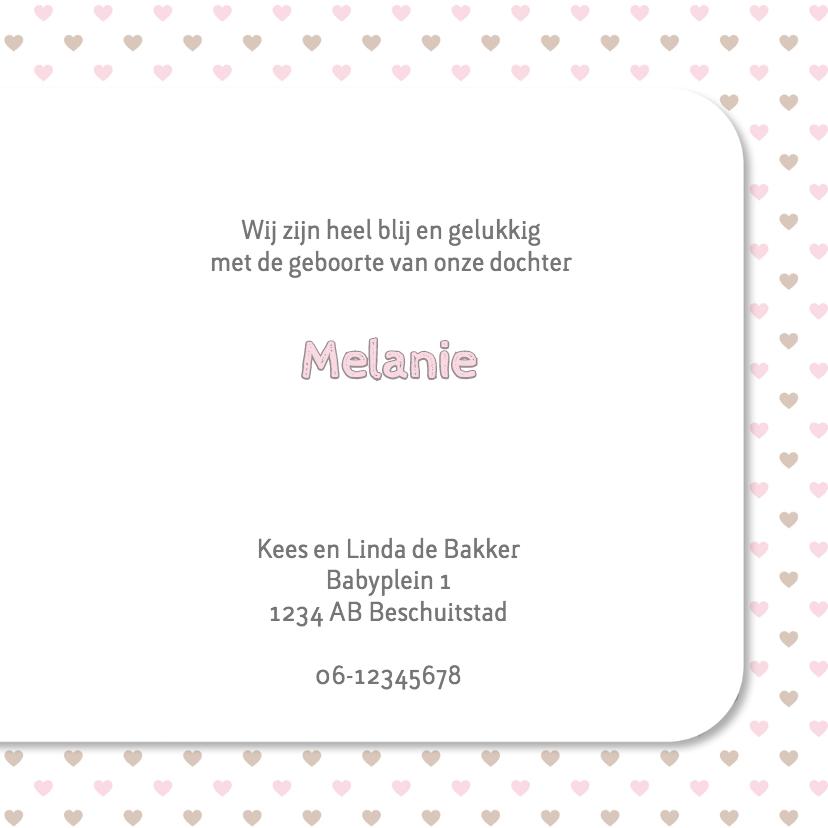 Geboortekaart ster-hart roze 3