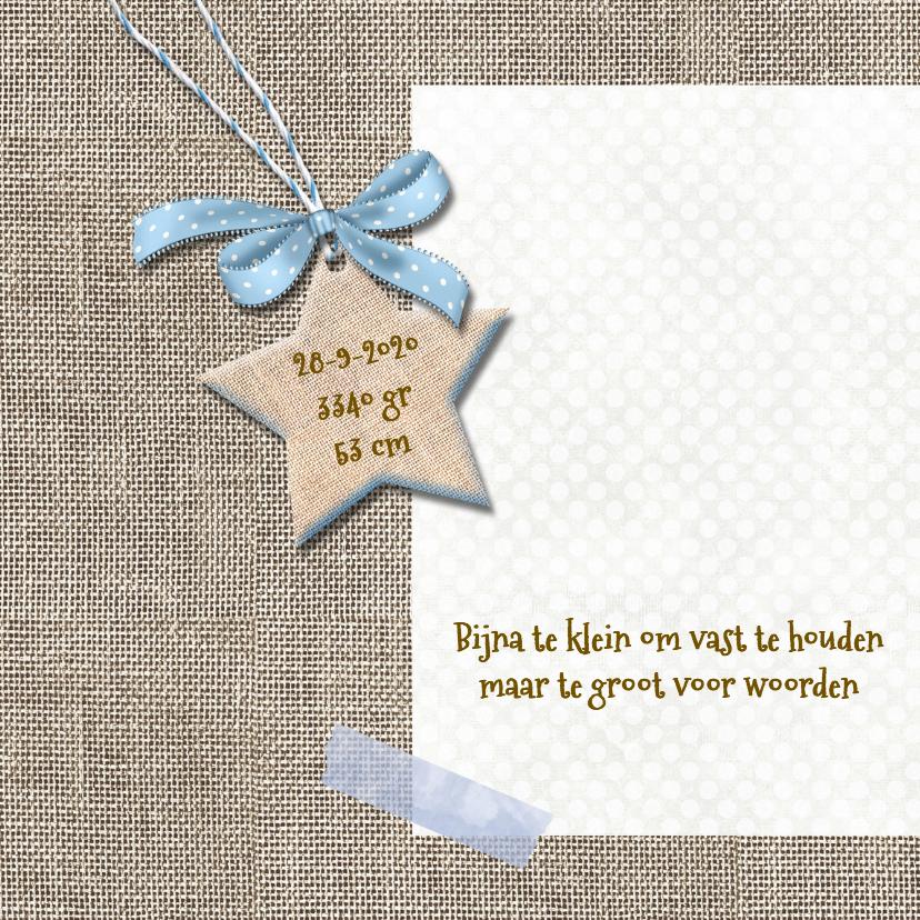 Geboortekaart ster voor jongen 2