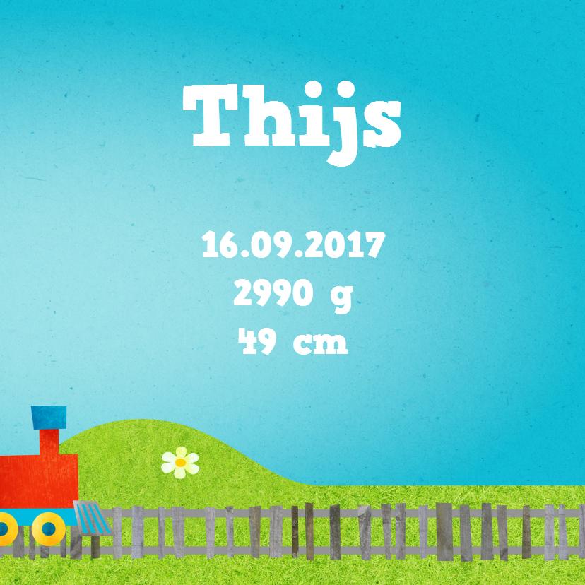 Geboortekaart trein jongen 3