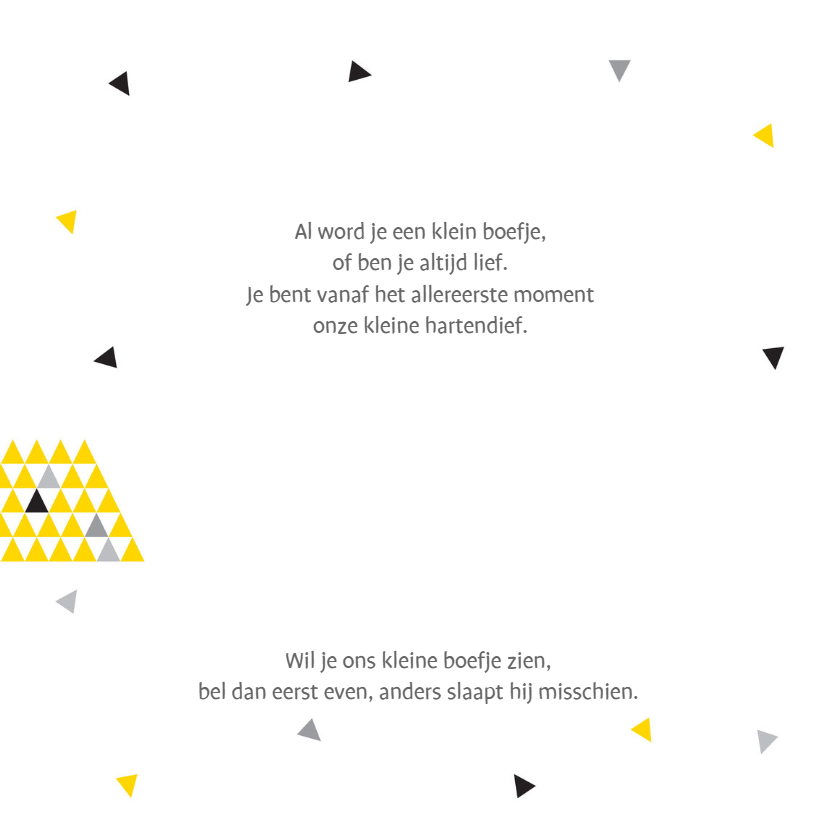 Geboortekaart triangle jongen 2