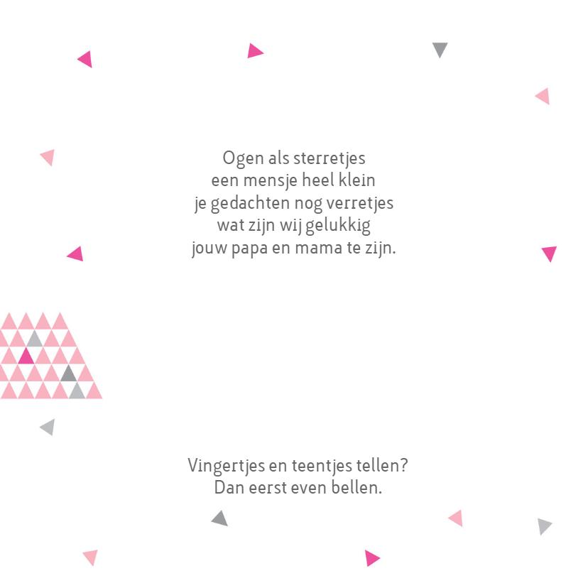 Geboortekaart triangle meisje 2
