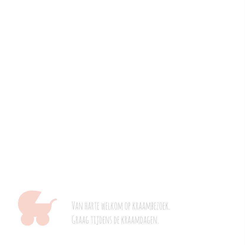 Geboortekaart typografie roze-BC 2