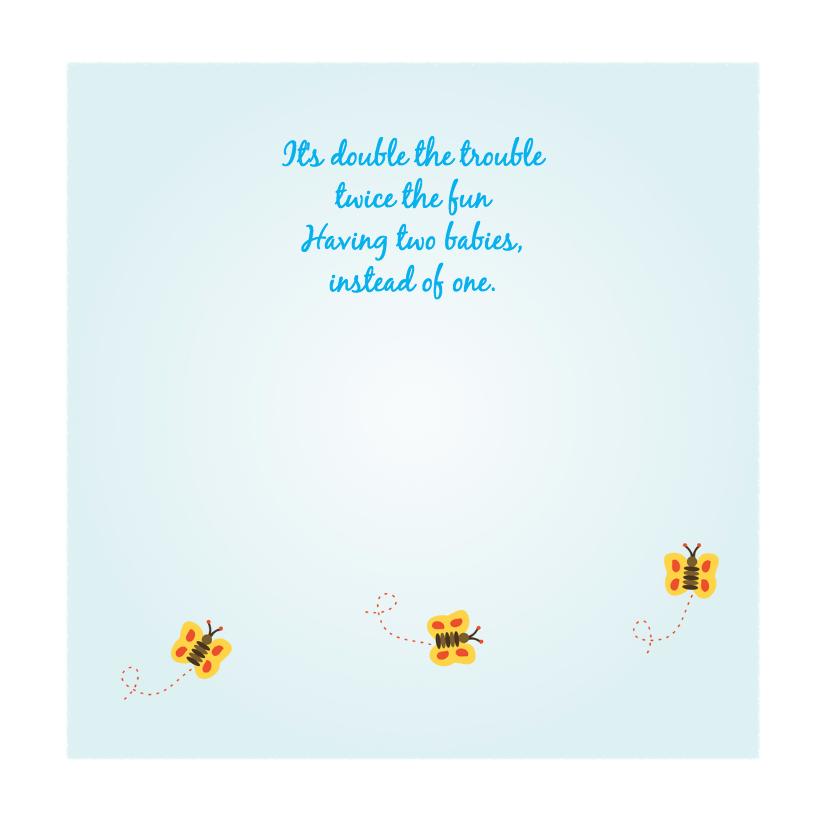 Geboortekaart  vlinder vangen 2