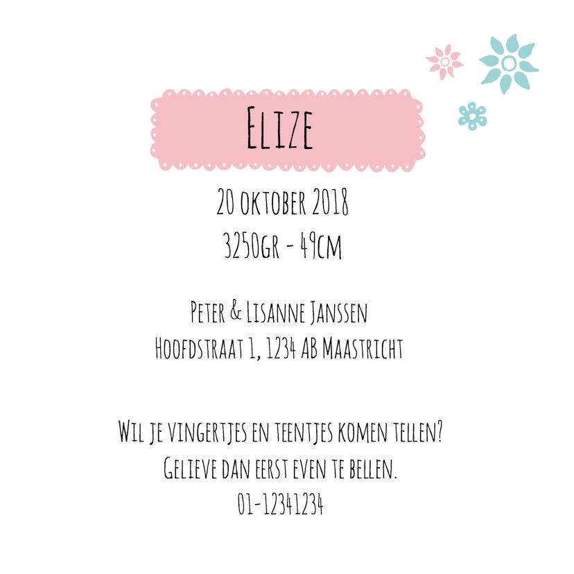 Geboortekaart Vosje Elize 3