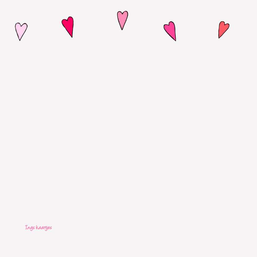 Geboortekaart wieg roze vlinder 2