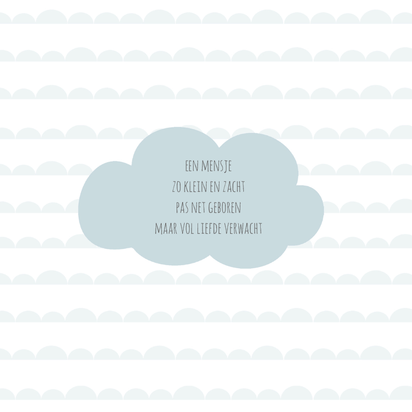 Geboortekaart wolk blauw - BC 2