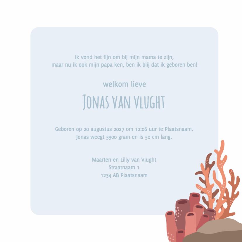 Geboortekaart zee Jonas - DH 3