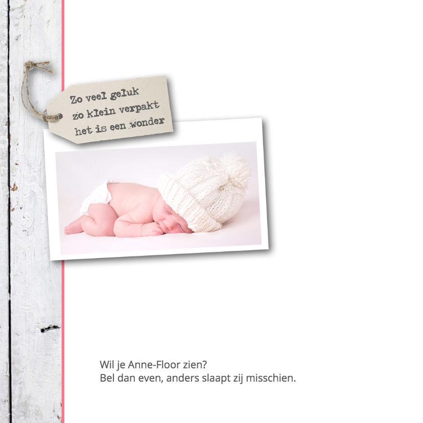 Geboortekaartje Anne-Floor 2